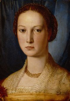 Bronzino (Agnolo di Cosimo) ~ Costanza da Sommaia, 1540 Love the partlet on this one!! i have to figure out that pleating