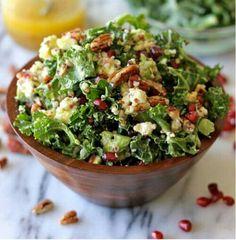 Kale Salad with Meyer Lemon Vinaigrette  http://damndelicious.net/2013/03/25/kale-salad-with-meyer-lemon-vinaigrette/#_a5y_p=1118336&nonCarded=1