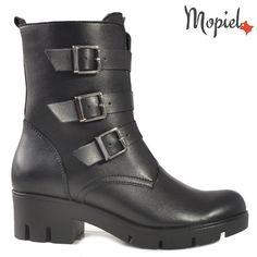 Ghete dama din piele naturala 218902/6027/Negru/Ariana Biker, Boots, Fashion, Crotch Boots, Moda, Shoe Boot, Fasion, Fashion Illustrations, Fashion Models