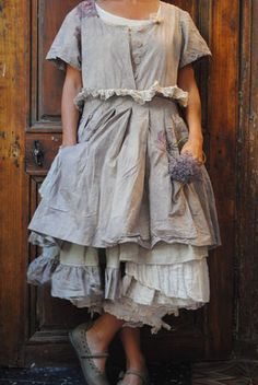 .Another pinafore with fabulous layered skirts. How I adore layered skirts.