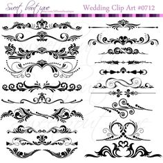 Flower Digital Borders Frames Ornate Wedding Shower Decorations Supplies Clipart Scrapbooking Craft Supply Buy 3 get 1 free clipart  0712