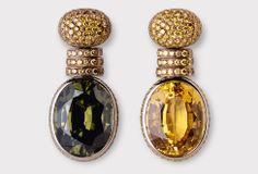 - * Earrings * - Sapphire - Zircon - Diamonds -White Gold - 2007 - Hemmerle Juweliere
