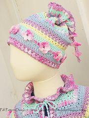 Cute crochet hat for a little girl
