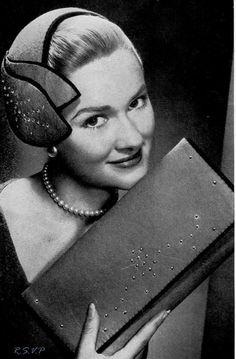 1950's Cocktail Hat and Purse Handbag Vintage by PamoolahVintage, $3.50