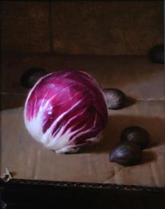 Radicchio and Chestnuts, oil by Darren Kingsley