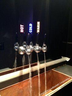 Bar taps, in a bathroom!