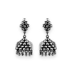 Gold plated silver oxidised jewellery looks timeless, elegant and classy. They are the best complement for every occasion which requires magnificent. Silver Jewellery Online, Silver Jewelry, Oxidised Jewellery, Sterling Jewelry, Antique Silver, Studs, Classy, Drop Earrings, Gifts