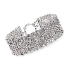 Shop Ross-Simons for a lovely collection of Sterling Silver Clearance Jewelry. Sterling Silver Bead Bracelet, Silver Bracelets, Silver Jewelry, White Topaz Rings, Mesh Bracelet, Silver Diamonds, Silver Cuff Bracelets, Silver Jewellery