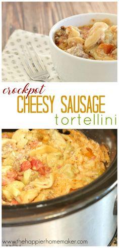 cheesy sausage tortellini recipe
