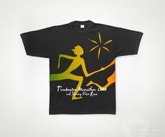 Diseño de Camiseta. Timbuctoo Marathon 2008 - www.versal.net • Diseño Gráfico • Identidad Visual Corporativa • Publicidad • Diseño Páginas Web • Ilustración • Graphic Design • Corporate Identity • Advertising • Web Pages • Illustration • Logo