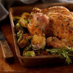 Pollo all'aglio al forno