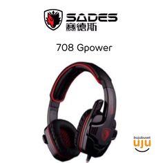 Sades 708 G-power Black/Red IDR 179.999