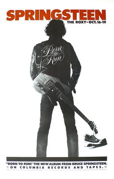 Bruce Springsteen - 1975 Concert Poster from The Roxy, Hollywood | Recordmecca