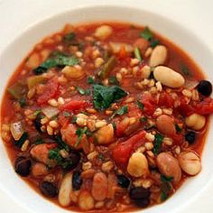Black and White Bean Soup With Sweet Potatoes