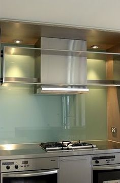 Nice Tempered Glass Backsplash Can Diy By Painting The Back Of The