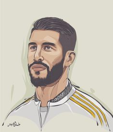 Illustration on Behance Real Madrid Team, Real Madrid Players, Football Player Drawing, Soccer Players, Soccer Art, Football Art, Illustration Art Drawing, Portrait Illustration, Art Drawings