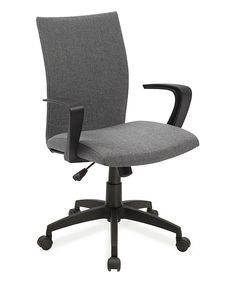 Look what I found on #zulily! Leick Furniture Gray Linen Office Chair by Leick Furniture #zulilyfinds