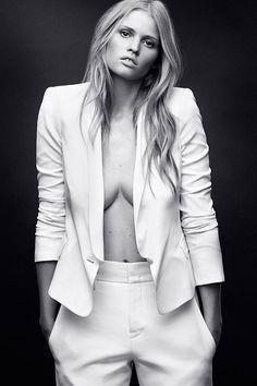 Lara Stone Harper's Bazaar April 2014