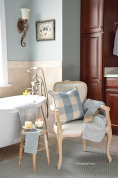 Master Bathroom | French Country Design Series | Housepitality Designs