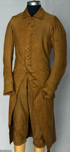Contemporary Makers: Middle Class Man's Day Suit, Rhode Island, 1780's