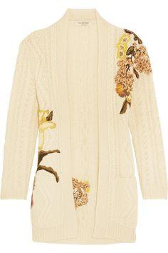Cream wool and alpaca-blend Slips on 50% wool, 50% alpaca; trim: 70% virgin wool, 30% cashmere Dry clean Made in Italy