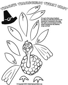 Thanksgiving Turkey Paper Doll Crafts Activity Coloring Pages Printouts & What to Give Thanks for Activities & Worksheets for Kids: Free Thanksgiving Day Coloring Book Printables, Coloring Sheets, & Pictures for Children to Celebrate Thanksgiving