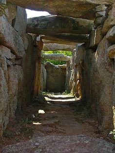 Tomba di giganti Coddu Vecchiu - Arzachena  Interno del vano funerario