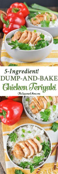 Dump and Bake Chicken Teriyaki! Easy Dinner Recipes | Dinner Ideas | Healthy Dinner Recipes | Healthy Dinners | Chicken Recipes | Chicken Breast Recipes @SoyVay #ad