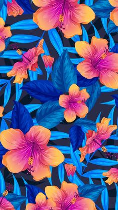 Colorful Flowers Art iPhone Wallpaper - iPhone Wallpapers