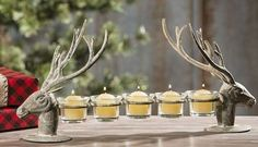 Reindeer 5 Votive CANDLE HOLDER*Deer*Primitive/French Country Christmas Decor