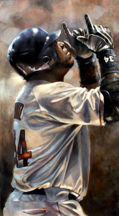 David Ortiz of the Boston Red Sox by Brian Fox.