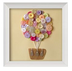 LOVE!  Nursery Art Baby Girl Baby Boy Baby Art Button Art Hot by quebee, $30.00