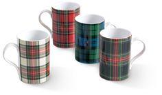 Tartan Mugs - Gift Box Set of 4
