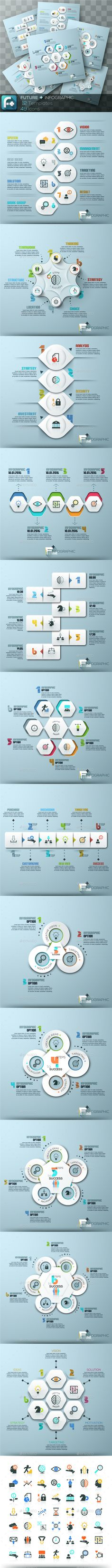 ''Future + '' Infographics. Set Templates PSD, Vector EPS, AI Illustrator. Download here: http://graphicriver.net/item/future-infographics-set-1/16009108?ref=ksioks