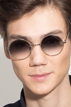 b430eeb7cc08a Silver Round Prescription Sunglasses-Large Metal Eyewear-Guru