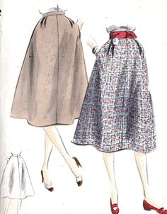 1950s Misses Skirt