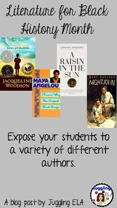A blog post about literature for Black History Month that works well in a secondary ELA classroom.