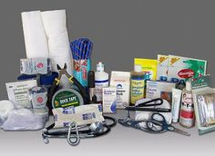 EquiKit Trailer First Aid Kit for Horses - good listing of items to have/carry in case of emergency