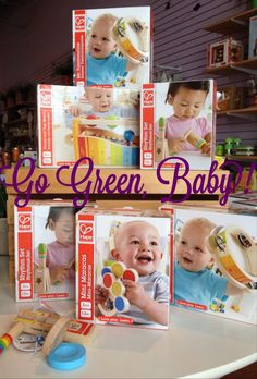 Go Green, Baby! is your source for musical instruments from Hape!  The gentle sounds the instruments make are a big hit with moms and dads!!  #baby #music #instrument #green #eco-friendly #toy