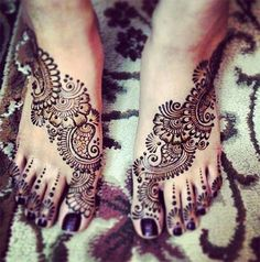 Bridal Henna Design for Feet #henna #mehndi