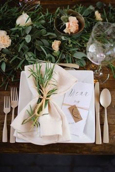 Wedding Venue Ideas Rustic and elegant wedding reception ideas - Soft and Romantic Backyard Wedding with plenty of great ideas! Photographed by Corrina Walker designed by Enriched Events flowers by Funky Petals Midlake. Reception Table, Wedding Reception Decorations, Wedding Centerpieces, Reception Ideas, Masquerade Centerpieces, Table Party, Decor Wedding, Wedding Menu, Table Centerpieces