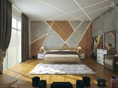 Gorgeous Apartment Ceiling Design Ideas That Inspiring 13 Bedroom False Ceiling Design, Luxury Bedroom Design, Bedroom Ceiling, Master Bedroom Design, Home Decor Bedroom, Bedroom Wall, Bedroom Designs, Modern Ceiling Design, Fall Ceiling Designs Bedroom