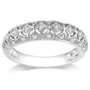 Beautiful Antique Design Diamond Wedding Band $364.99