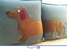Dachshund Cushion Cover. long dog, shortside home decor cottage style