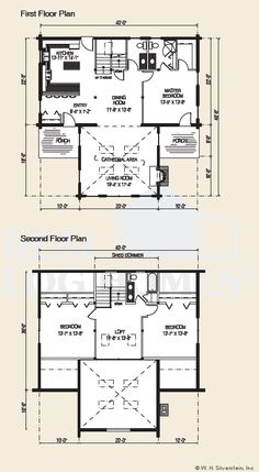 The Ozark Log Home Floor Plan