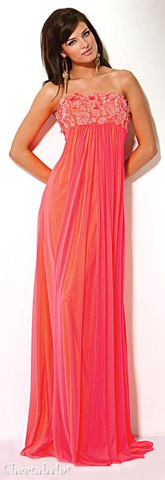 JOVANI - Lovely Coral Gown