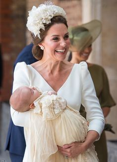 Kate, 36, beamed as she was greeted by the Archbishop of Canterbury outside Chapel Royal a...