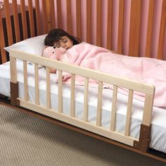 KidCo Convertible Wood Crib Bed Rail-worked great for our sleigh crib just wish & Child Safety Cozy Crib Tent II Prevents Climbing (Can already tell ...