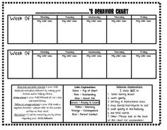 behavior chart-I will be using this in place of a calendar next year. =)