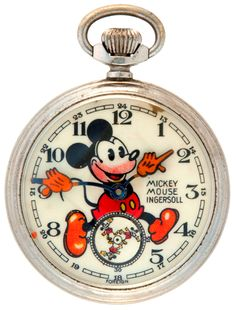 Vintage Mickey Mouse pocket watch c.1934 © Theodore L. Hake